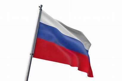 Flag Waving Wind Della Russia Bulgaria Illustratie