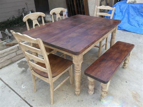dining set from reclaimed wood by pine transitional