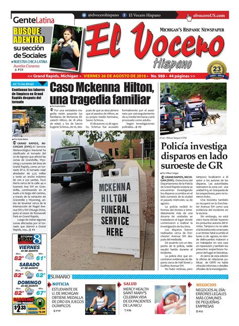 El Vocero Hispano 26 de Agosto de 2016 by El Vocero