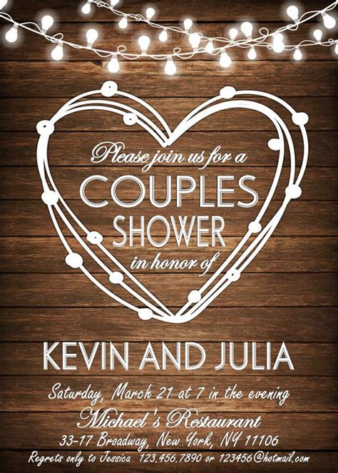 COUPLES SHOWER INVITATION Bbq Couples shower Bbq by