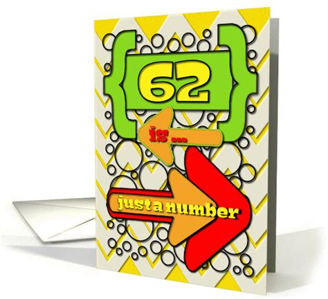 happy 62nd birthday happy 62nd happy 62nd birthday just a number chevrons and polka dots card