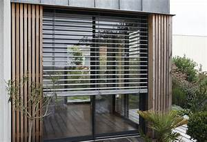 Store Bois Exterieur : brise soleil orientable bandes horizontales pour l 39 ext rieur ~ Premium-room.com Idées de Décoration