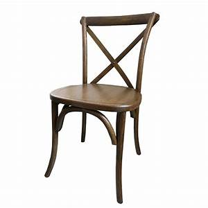 Cross Back Wood Chairs - Party and Wedding Rentals for