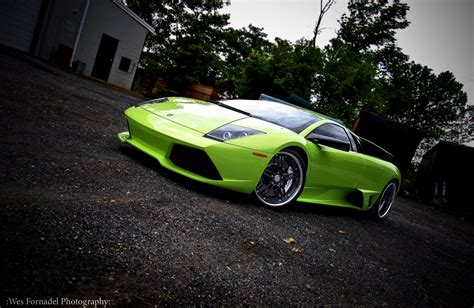 Italian Lamborghini Murcielago Cars Green Wallpaper