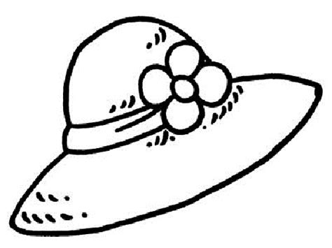 hat coloring pages getcoloringpagescom