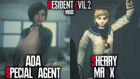 Resident Evil 2 Remake Mods Ada Special Agent And Sherry