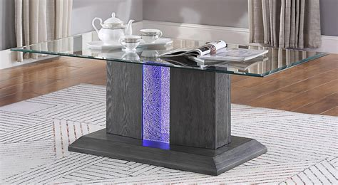 See more related results for. Belay Gray Oak Wood/Clear Glass Coffee Table w/LED by Acme