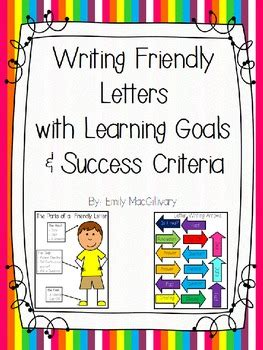 letter writing  learning goals  success criteria