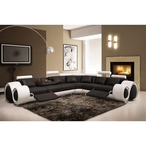 position canap canap d 39 angle convertible tudor noir blanc achat