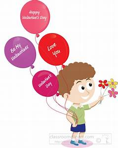 Valentines Day Clipart- happy-valentines-day-child-holding ...