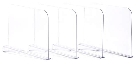 clear shelf dividers acrylic shelf dividers clear set of 4 contemporary