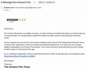 how amazon flex drivers get deactivated from amazon flex With amazon appeal letter
