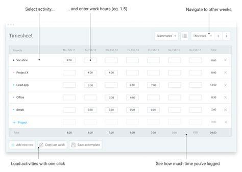 hourly work time sheet michaeltaborsky