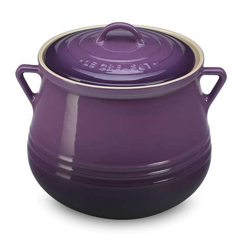 Le Creuset Stoneware Heritage Bean Pot, 4.5 quart Cassis