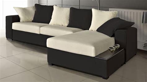 canapé noir et blanc pas cher canapé d 39 angle réversible en microfibre noir et blanc pas cher