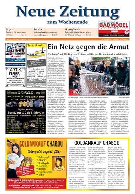 Fliesen Jasken by Neue Zeitung Ausgabe Lingen Kw40 2011 By Gerhard Verlag