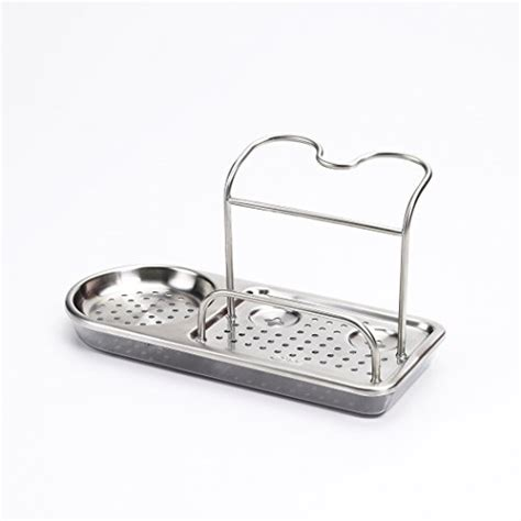 sponge caddy for sink kitchen storage stainless steel organizer rack soap sponge