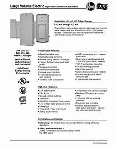 Ruud High-power Commercial Water Heater Manuals