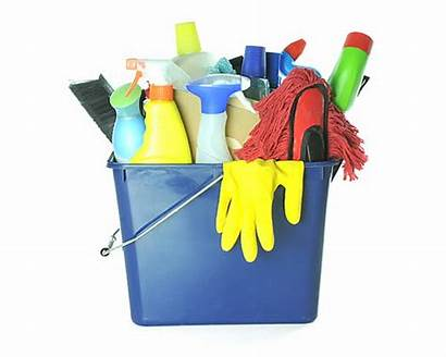 Cleaning Bucket Supplies Cartoon Washing Tools Clip