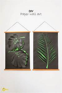 top 10 super awesome wall art diys page 5 nifty diys With paper wall art