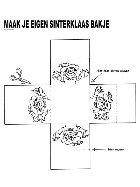 Kleurplaat Sinterklaas Komt Op Bezoke by Kleurplaat Sinterklaas Bakje Kleurplaten Nl