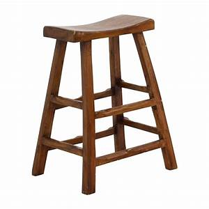 About A Stool : 55 off rustic wood saddle seat counter stool chairs ~ Buech-reservation.com Haus und Dekorationen
