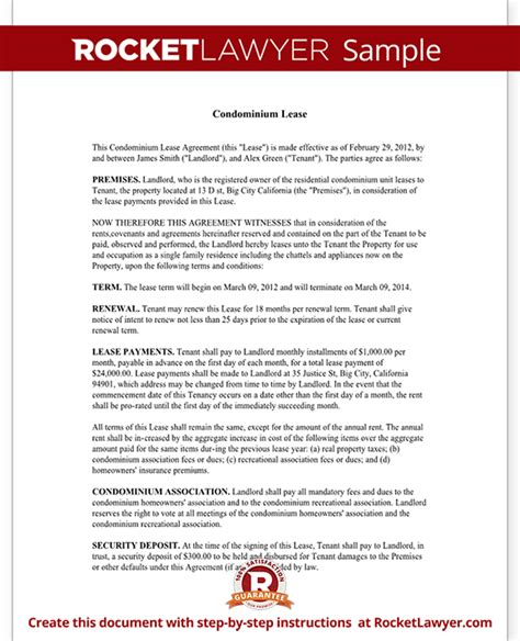 condominium rules rental agreement template condo lease agreement condominium lease with sle