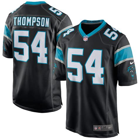 rush soccer fan gear nike shaq thompson carolina panthers black game jersey
