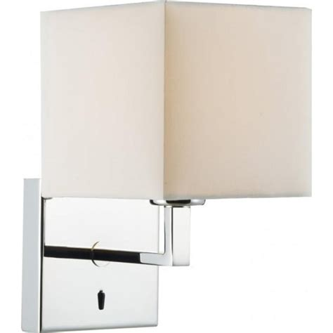 dar lighting anvil switched single light polished chrome fixed wall bracket lighting type from