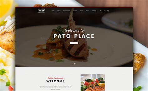 multi page html bootstrap restaurant website template