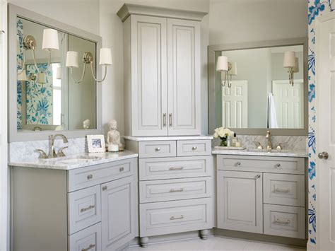 his and hers vanities transitional bathroom kandrac