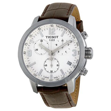 Tissot Prc 200 Chrono Leather Brw tissot prc 200 chronograph white brown leather mens
