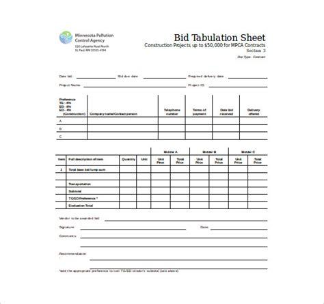 bid sheet template bid sheet template 10 free word pdf documents free premium templates
