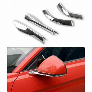4x Car Rearview Mirror Base Cover Trim for Ford Mustang 15-17 Accessories Chrome | eBay