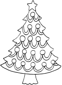 christmas tree black  white clip art black  white