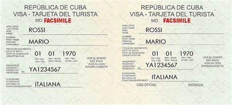 Visto Ingresso Cuba Visas Cuba Informazioni Visto