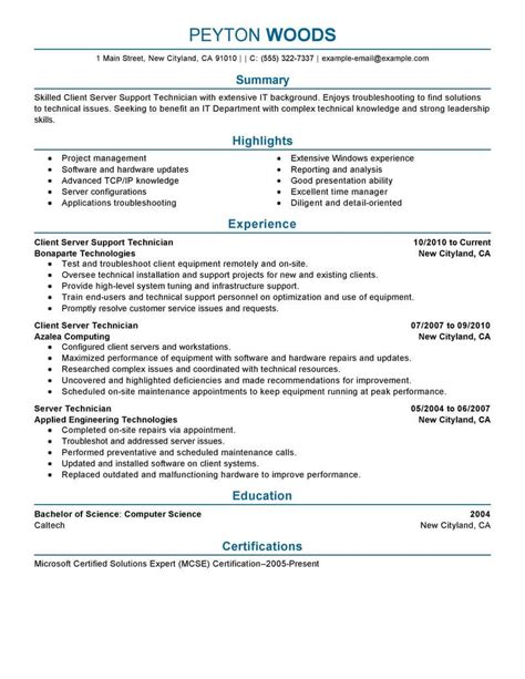 It Resumes Templates by 11 Amazing It Resume Exles Livecareer