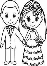 Coloring Bride Pages Printable Groom Getcolorings sketch template