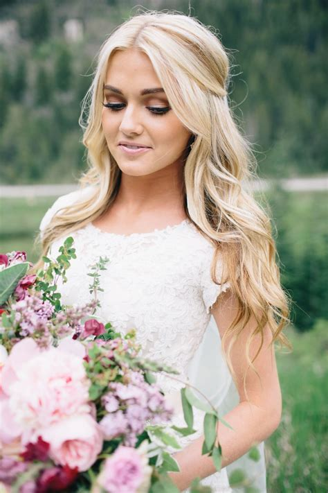 pops of pretty in 2019 wedding hairstyles bridesmaid