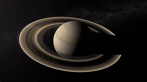 The Planet Saturn & Moons - HD stock video clip