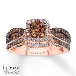 chocolate wedding ring sets levian chocolate diamonds 1 3 8 ct tw bridal set 14k gold