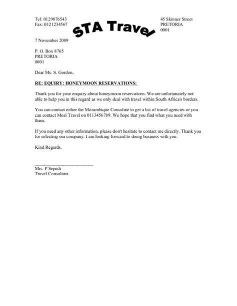 Negative Letter Of Response