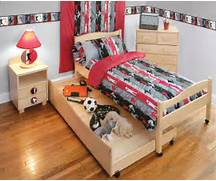 Sports Themed Bedroom Accessories Themed Boys Rooms Sports Bedding Window Treatments And Wall Decor