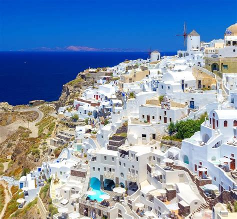 Sea View Panorama Of Santorini Island Ia Stock Image