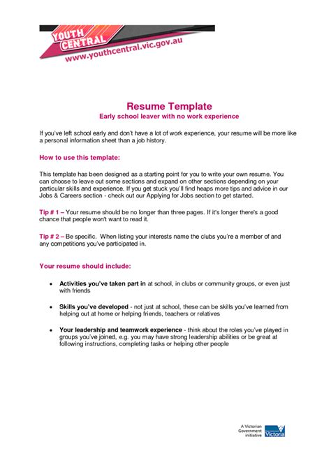 5 resume for with no experience sle resumes