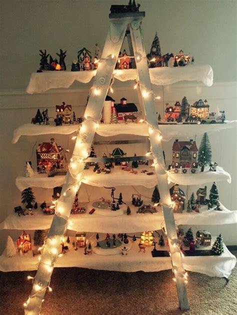 christmas village ladder decor ll christmas