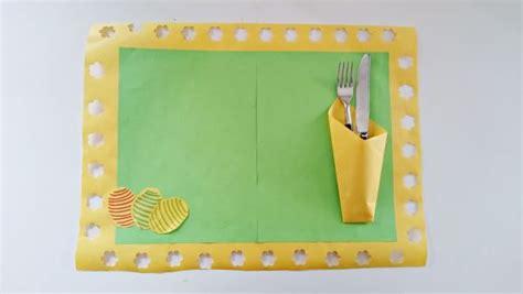 bricolage de paques fabriquer  set de table pour paques