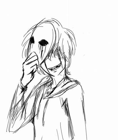 Eyeless Jack Creepypasta Pages Anime Coloring Drawing