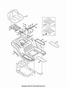 Troy Bilt 13wn77ks011 Pony  2011  Parts Diagram For Seat
