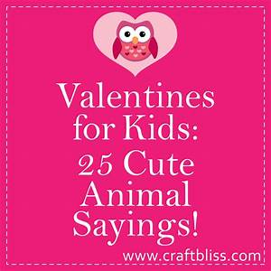 Sayings Valentines For Kids Christmas Card Cute Animal ...